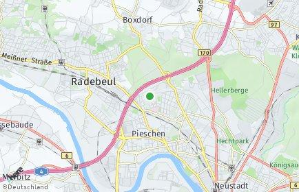 Stadtplan Dresden OT Trachau