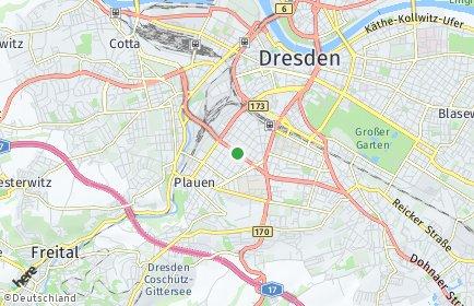 Stadtplan Dresden OT Südvorstadt-West