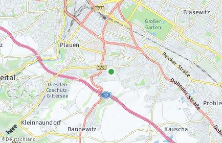 Stadtplan Dresden OT Kleinpestitz/Mockritz