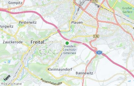 Stadtplan Dresden OT Coschütz/Gittersee