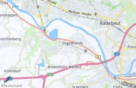 Stadtplan Dresden OT Cossebaude