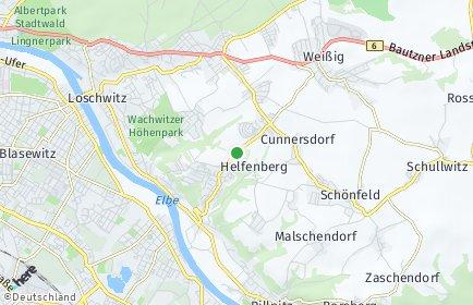 Stadtplan Dresden OT Gönnsdorf/Pappritz