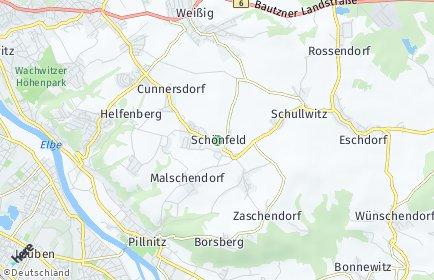 Stadtplan Dresden OT Schönfeld/Schullwitz