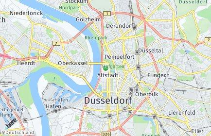 Stadtplan Düsseldorf OT Altstadt