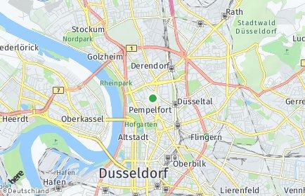 Stadtplan Düsseldorf OT Pempelfort
