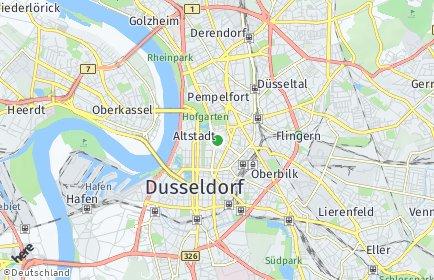 Stadtplan Düsseldorf OT Stadtmitte