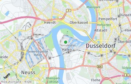 Stadtplan Düsseldorf OT Hafen