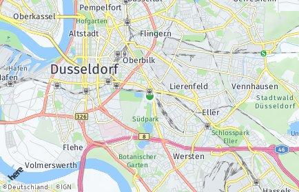 Stadtplan Düsseldorf OT Oberbilk