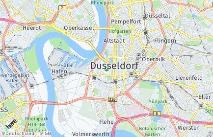 Stadtplan Düsseldorf OT Unterbilk