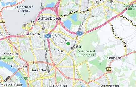 Stadtplan Düsseldorf OT Rath