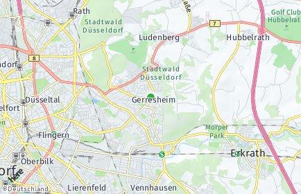 Stadtplan Düsseldorf OT Gerresheim