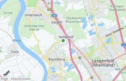 Stadtplan Düsseldorf OT Hellerhof