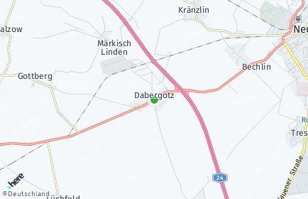 Stadtplan Dabergotz