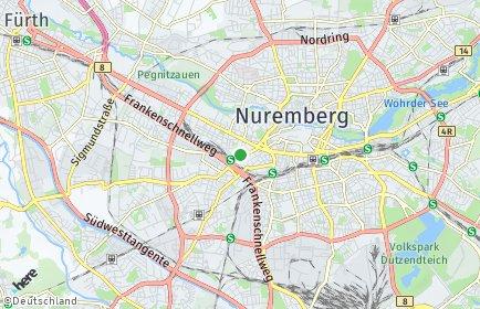 Stadtplan Nürnberg OT Gostenhof