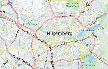 Stadtplan Nürnberg OT Kleinweidenmühle