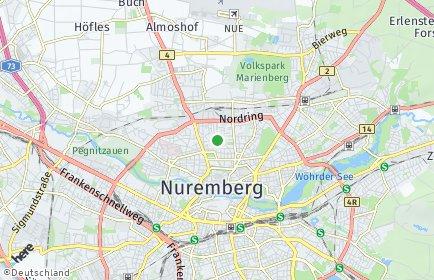 Stadtplan Nürnberg OT Gärten hinter der Veste