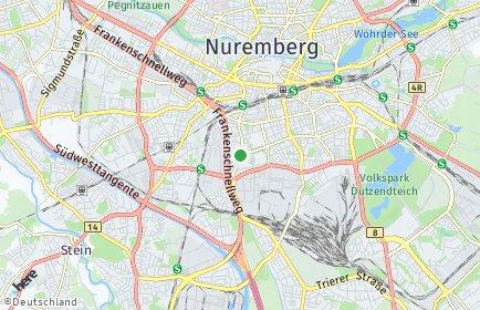 Stadtplan Nürnberg OT Gibitzenhof