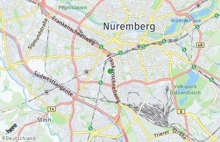 Stadtplan Nürnberg OT Sandreuth