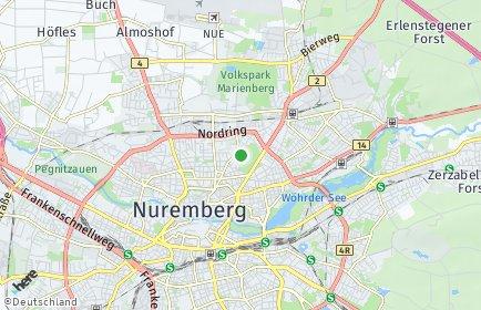 Stadtplan Nürnberg OT Maxfeld