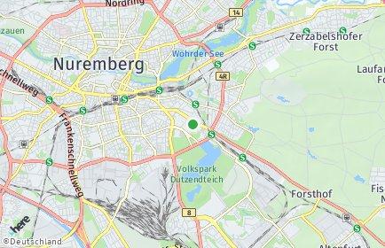 Stadtplan Nürnberg OT Gleißhammer