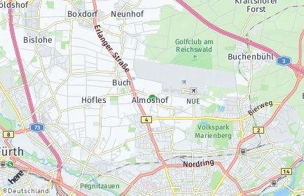 Stadtplan Nürnberg OT Almoshof