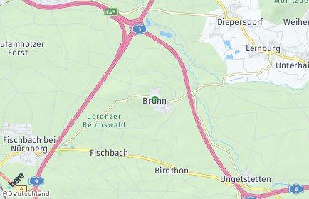 Stadtplan Nürnberg OT Brunn