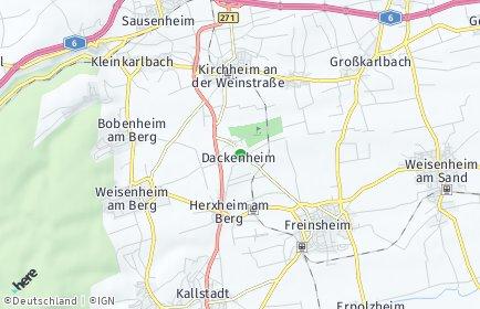 Stadtplan Dackenheim
