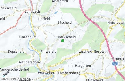 Stadtplan Dackscheid bei Waxweiler