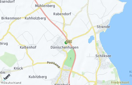 Stadtplan Dänischenhagen