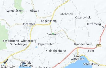 Stadtplan Damendorf
