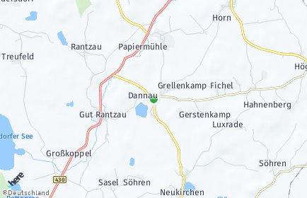 Stadtplan Dannau