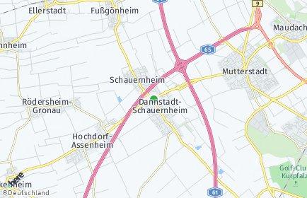 Stadtplan Dannstadt-Schauernheim