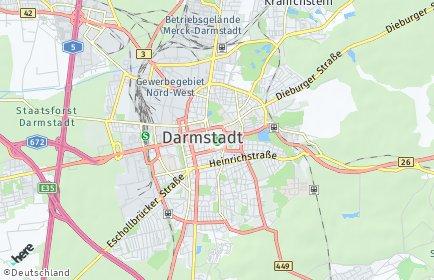 Stadtplan Darmstadt