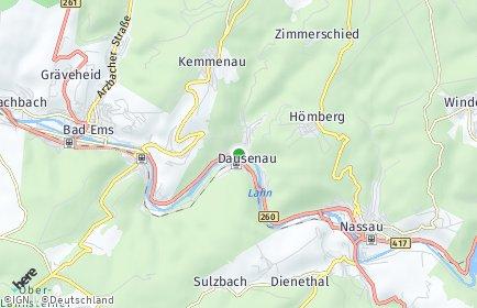 Stadtplan Dausenau