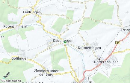 Stadtplan Dautmergen