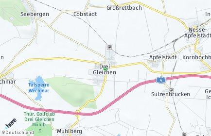 Stadtplan Drei Gleichen
