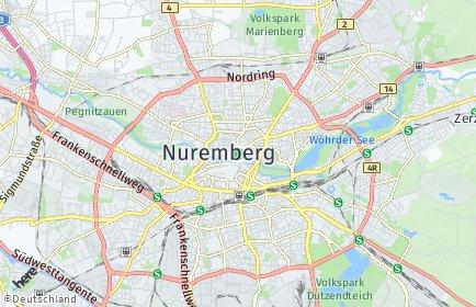 Stadtplan Nürnberg OT Sebald