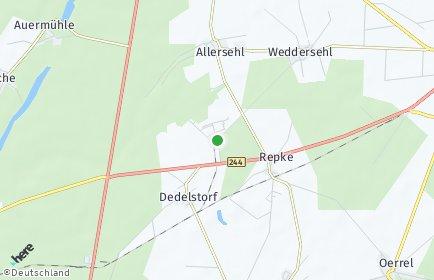 Stadtplan Dedelstorf OT Oerrel bei Wittingen
