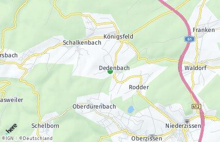 Stadtplan Dedenbach