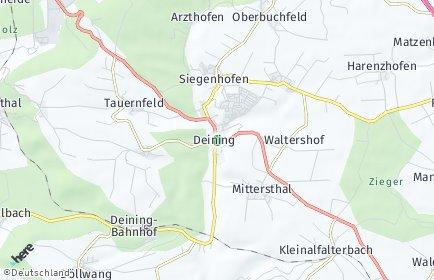 Stadtplan Deining