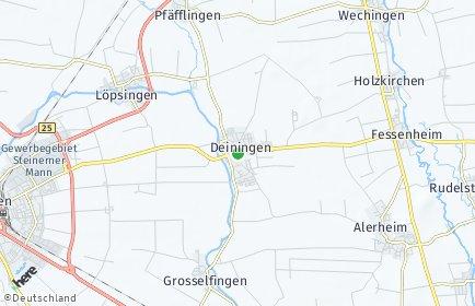 Stadtplan Deiningen