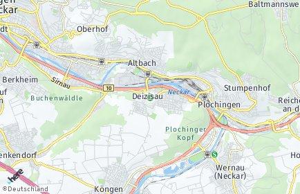 Stadtplan Deizisau