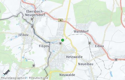 Stadtplan Ebersbach-Neugersdorf