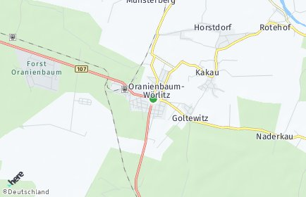 Stadtplan Oranienbaum-Wörlitz