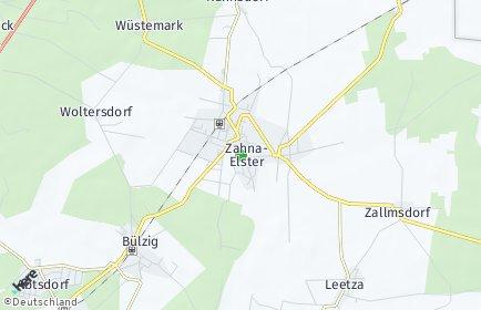 Stadtplan Zahna-Elster