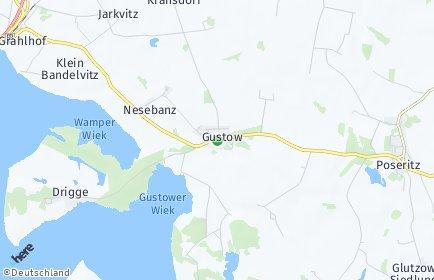 Stadtplan Gustow