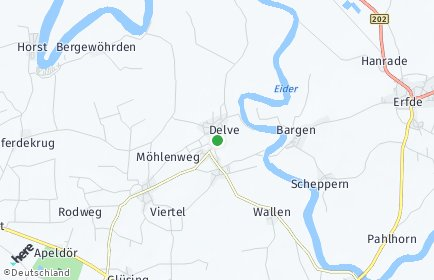 Stadtplan Delve
