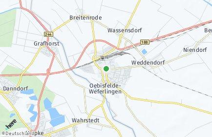 Stadtplan Oebisfelde-Weferlingen OT Bösdorf