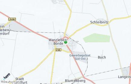 Stadtplan Wanzleben-Börde