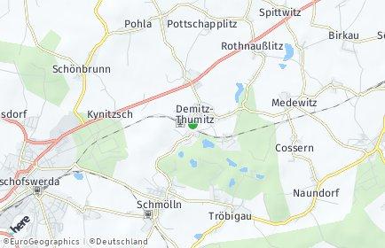 Stadtplan Demitz-Thumitz